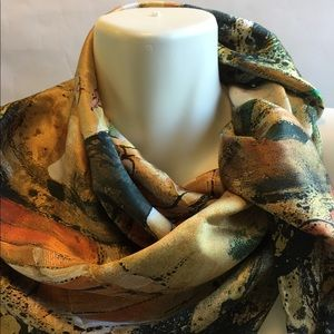 New Tianhe 100% silk Multicolor scarf